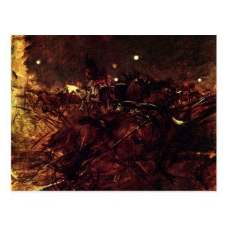 Giovanni Boldini - Night in Monmartre Postcard