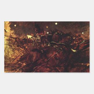 Giovanni Boldini - Night in Monmartre Rectangular Sticker