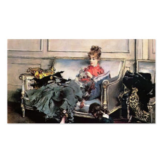 Giovanni Boldini- Peaceful Days Business Cards