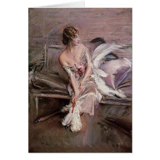 Giovanni Boldini- Portrait of Gladys Deacon Card