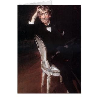Giovanni Boldini- Portrait of James Abbott Greeting Card