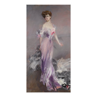 Giovanni Boldini Portrait of Mrs. Howard-Johnston Poster