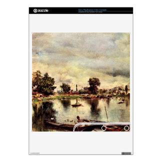 Giovanni Boldini - River landscape Decals For PS3 Slim