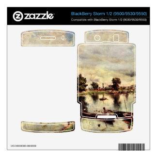 Giovanni Boldini - River landscape BlackBerry Decal