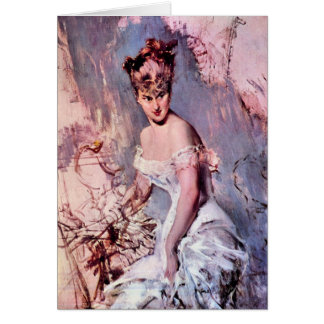 Giovanni Boldini - The actress Alice Regnault Card