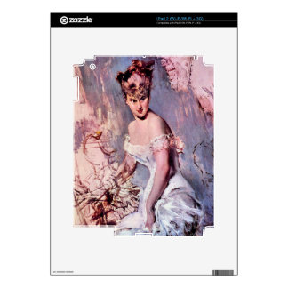 Giovanni Boldini - The actress Alice Regnault iPad 2 Decal