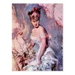 Giovanni Boldini - The actress Alice Regnault Postcard