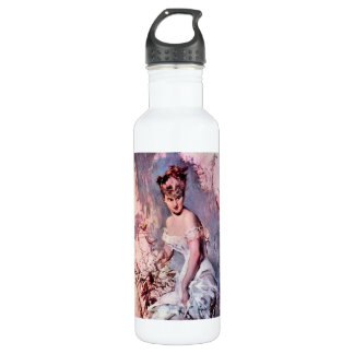 Giovanni Boldini - The actress Alice Regnault Stainless Steel Water Bottle