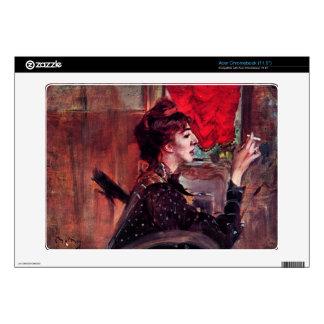 Giovanni Boldini - The red curtain Acer Chromebook Skin