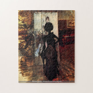Giovanni Boldini - Woman in front of the painting Jigsaw Puzzles