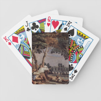 Giovanni Domenico Tiepolo: Rest of the farmers Bicycle Card Deck