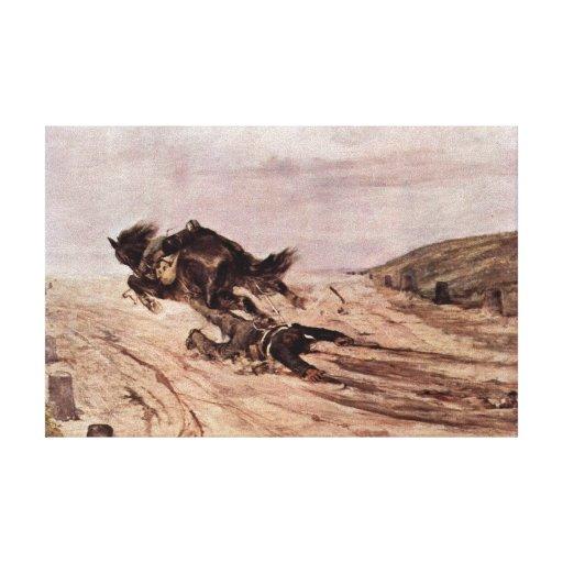 Giovanni Fattori - The stapes Canvas Print