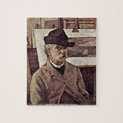 Giovanni Fattori - Uno mismo-retrato sesenta años  Puzzles