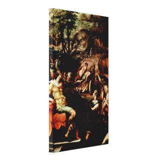 Giovanni Naldini - Collection of the gray Ambers Canvas Print