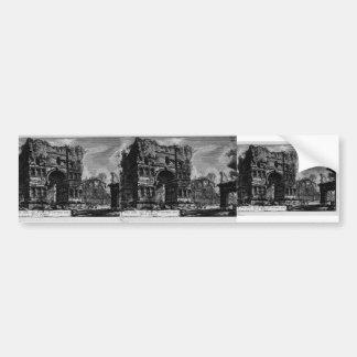 Giovanni Piranesi-Arch of Janus Bumper Sticker