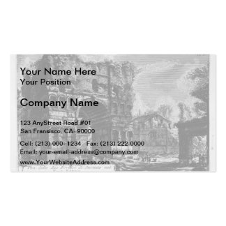Giovanni Piranesi-Arch of Janus Business Card Template