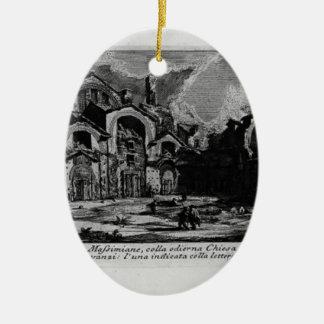 Giovanni Piranesi-Baths of Diocletian Christmas Ornament
