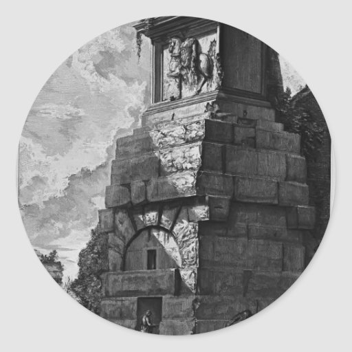 Giovanni Piranesi- Burial rooms of Augustus family Stickers