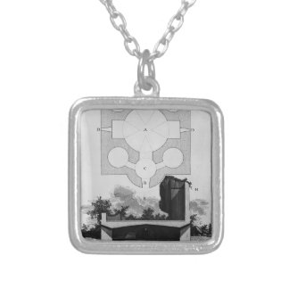 Giovanni Piranesi-Cross-section of large urn Custom Necklace