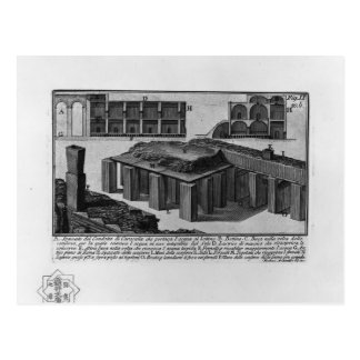 Giovanni Piranesi- Duct of Caracalla Postcards