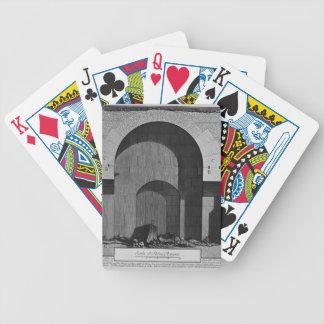 Giovanni Piranesi- Elevation of a tomb Poker Cards