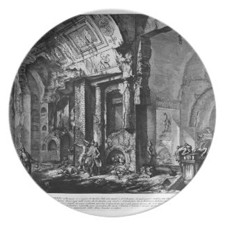 Giovanni Piranesi-Entrance of burial chamber Party Plate