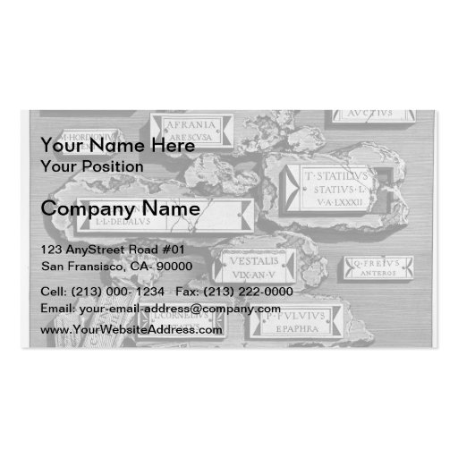 Giovanni Piranesi-Inscriptions of burial chamber Business Cards
