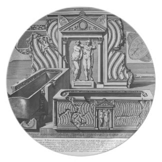 Giovanni Piranesi-Inscriptions of burial chamber Dinner Plate
