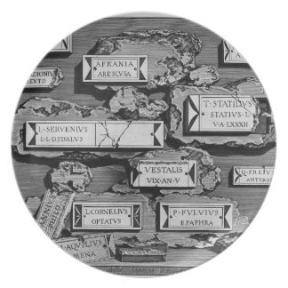 Giovanni Piranesi-Inscriptions of burial chamber Party Plate