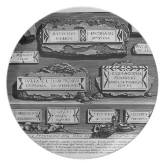 Giovanni Piranesi-Inscriptions of burial chamber Plates