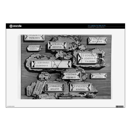 "Giovanni Piranesi-Inscriptions of burial chamber Skin For 15"" Laptop"