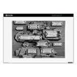Giovanni Piranesi-Inscriptions of burial chamber Decal For Laptop