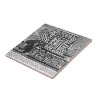 Giovanni Piranesi-Inscriptions of burial chamber Ceramic Tiles