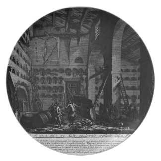 Giovanni Piranesi- Interior view of burial rooms Plate