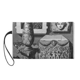 Giovanni Piranesi- Large urn of porphyry Wristlet Purses