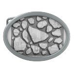 Giovanni Piranesi- Map of ancient Rome&Forma Urbis Oval Belt Buckles