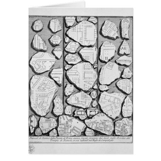 Giovanni Piranesi-Map of ancient Rome&Forma Urbis Greeting Card
