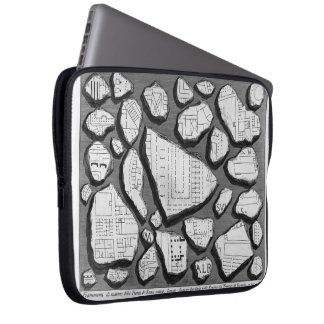 Giovanni Piranesi- Map of ancient Rome&Forma Urbis Laptop Sleeves