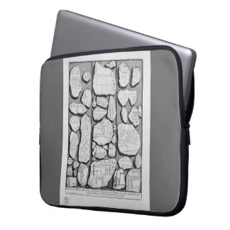 Giovanni Piranesi-Map of ancient Rome&Forma Urbis Laptop Sleeve