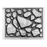 Giovanni Piranesi- Map of ancient Rome&Forma Urbis Postcards