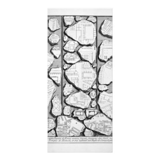 Giovanni Piranesi-Map of ancient Rome&Forma Urbis Rack Card