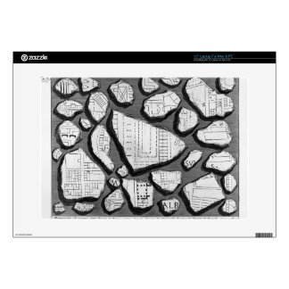 Giovanni Piranesi- Map of ancient Rome&Forma Urbis Laptop Skins