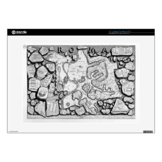 Giovanni Piranesi-Map of ancient Rome&Forma Urbis Skins For Laptops