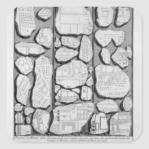 Giovanni Piranesi-Map of ancient Rome&Forma Urbis Sticker