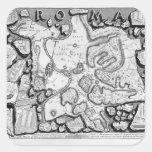 Giovanni Piranesi-Map of ancient Rome&Forma Urbis Square Sticker