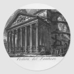 Giovanni Piranesi- Pantheon Round Stickers