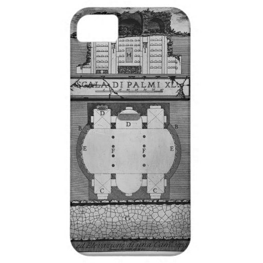 Giovanni Piranesi- Plan & elevation of a chamber iPhone 5 Case