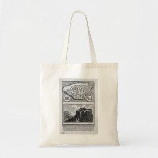 Giovanni Piranesi-Plan of the ancient Roman Forum Canvas Bags