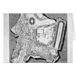 Giovanni Piranesi-Plan of the Baths of Diocletian Card