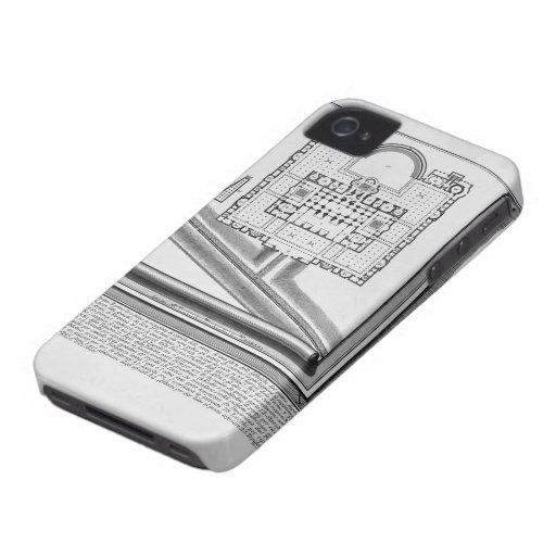 Giovanni Piranesi-Plan of the Baths of Diocletian iPhone 4 Cases